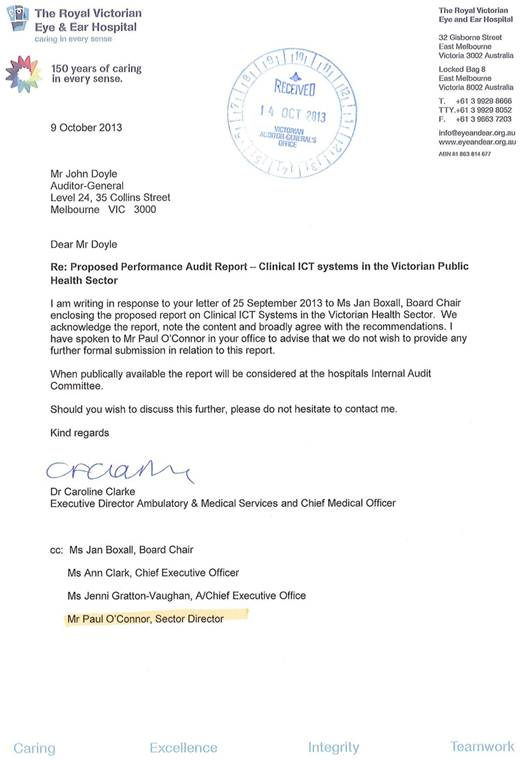 Clinical ICT Systems in the Victorian Public Health Sector