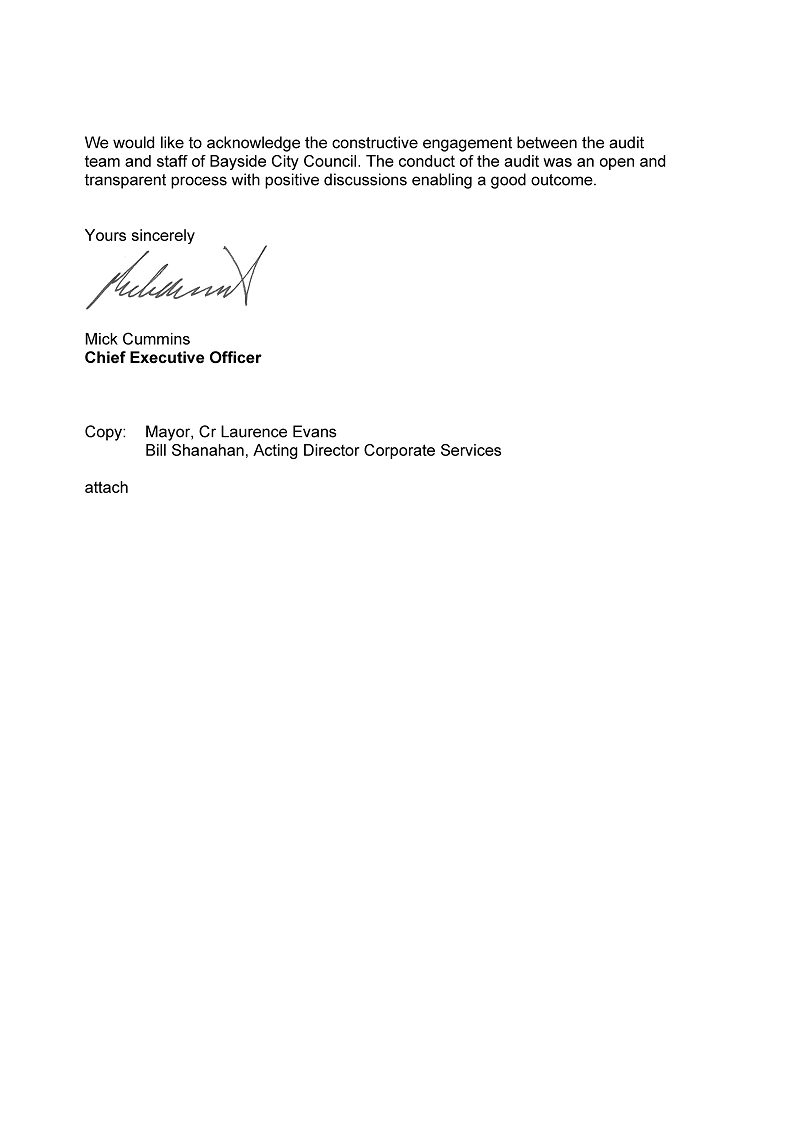 RESPONSE provided by the Chief Executive Officer, Bayside City Council - Page 2