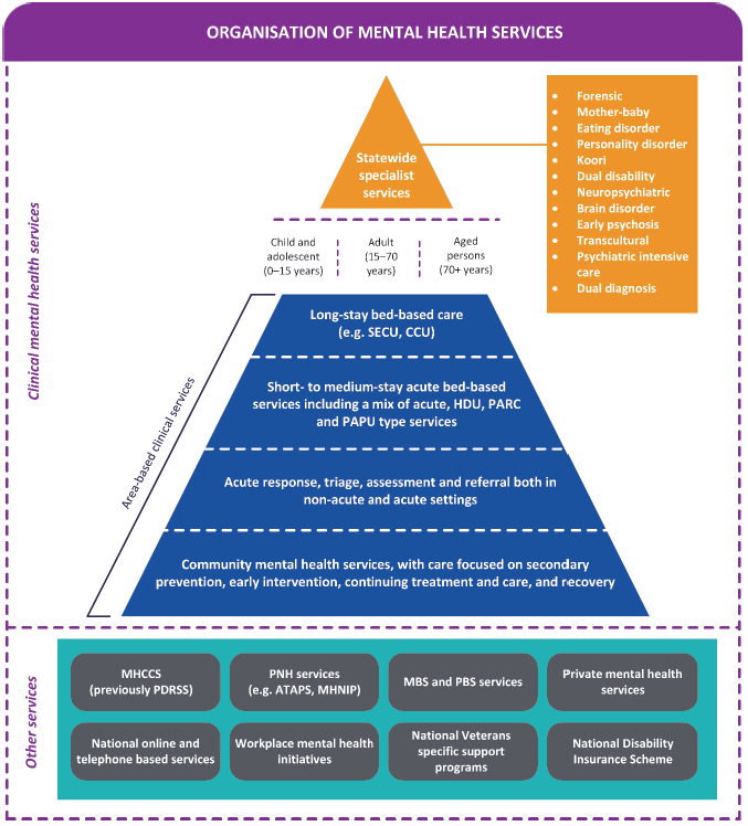 Organisation of mental health services