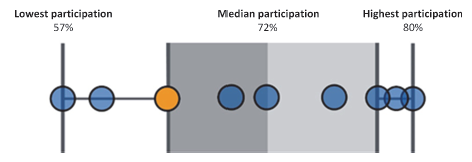 Figure 3H shows Casey is below the median participation of 72%