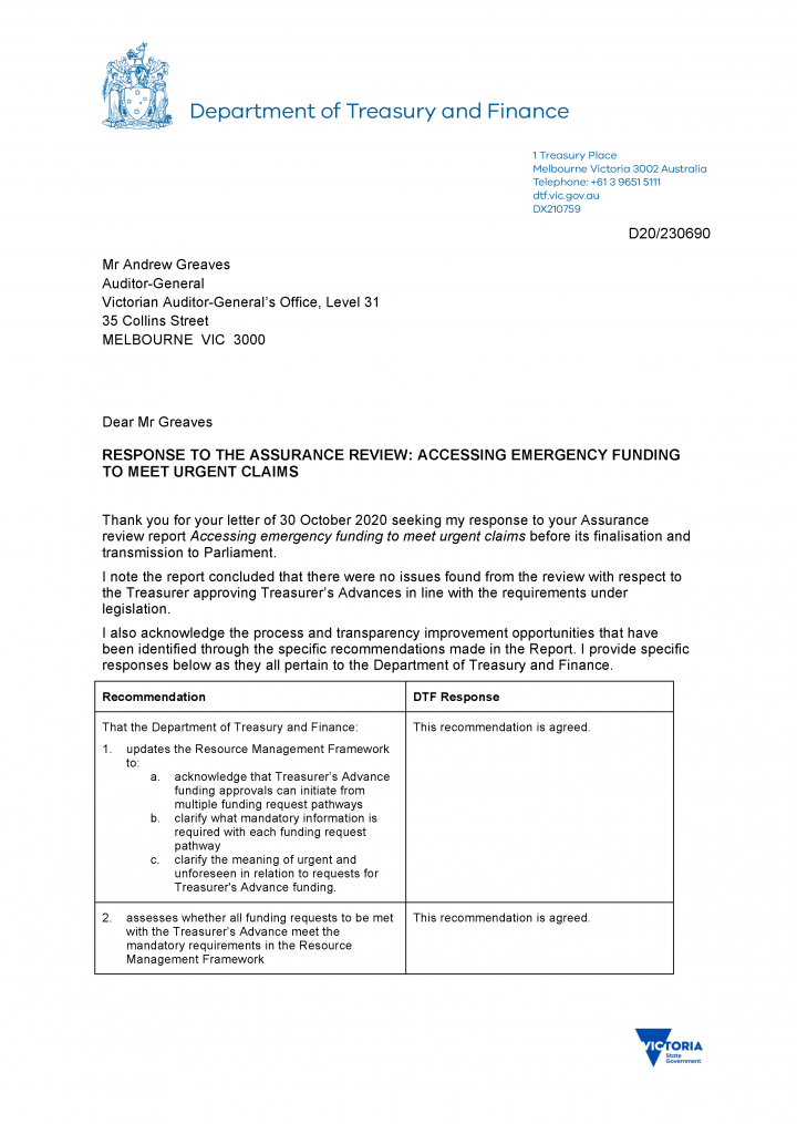 DTF's response letter page 1