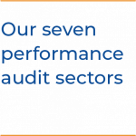 Our seven performance audit sectors