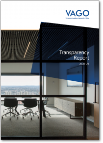 Cover of our Transparency Report 2020–21