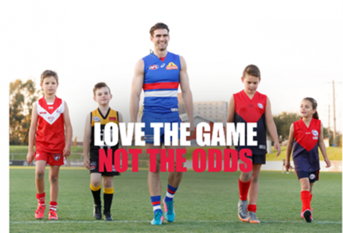 Love the game not the odds campaign graphic