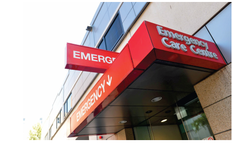 Entrance to and Emergency Care Centre. Photo courtesy of St Vincent's Hospital Melbourne.