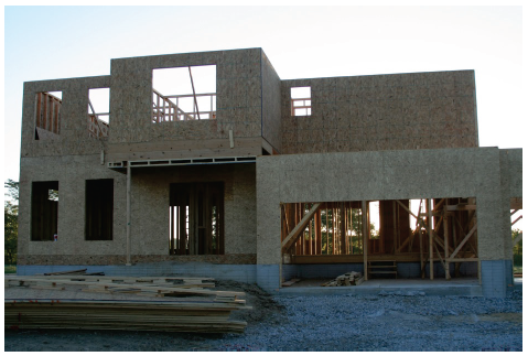 Image of two-storey building being constructed