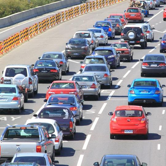 Cars stuck in a traffic jam on a motorway. Photo courtesy of TK Kurikawa / Shutterstock.com