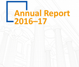 Cover of the Annual Report 2016–17