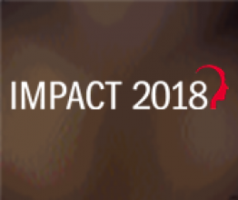 IMPACT 2018 written on a brown background